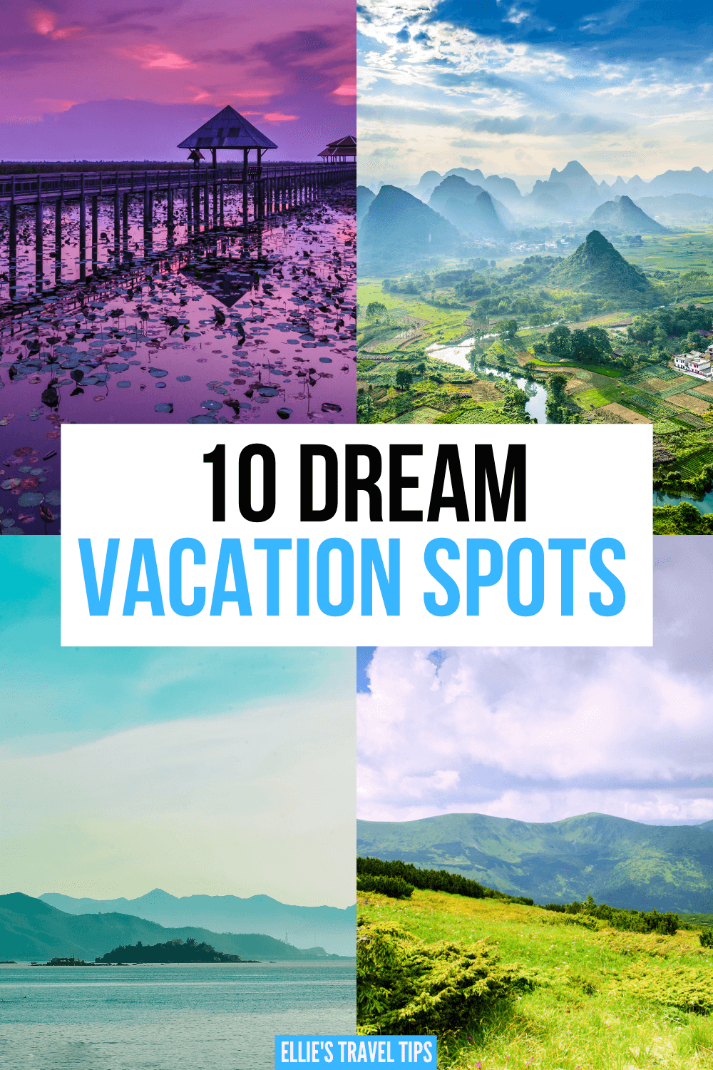 dream vacation spots pin