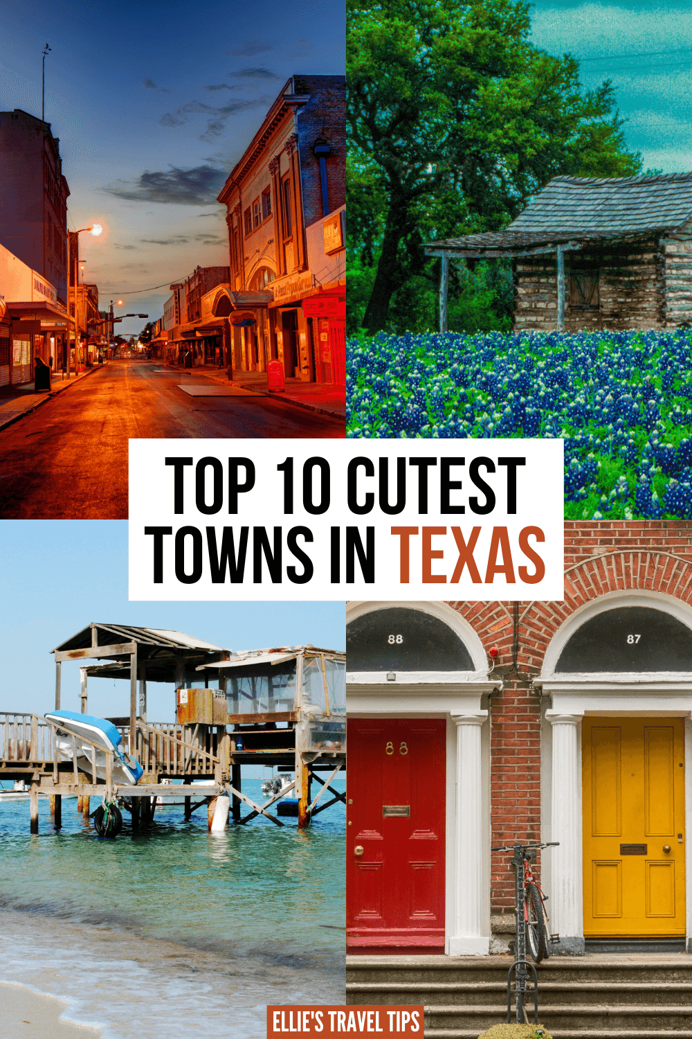 cutest towns in Texas pin