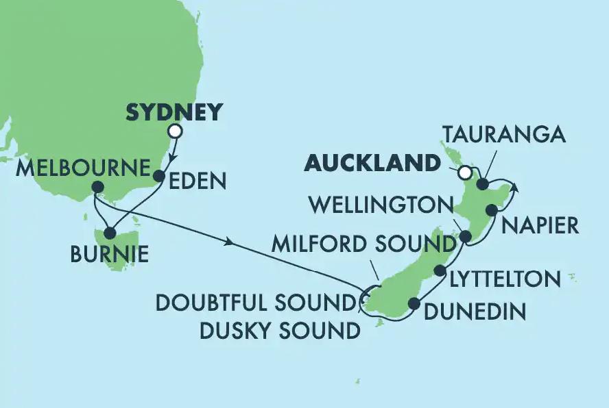 NCL New Zealand Cruise