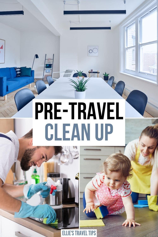 pre travel clean