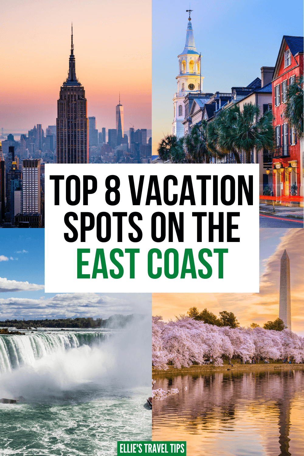vacation spots on the east coast