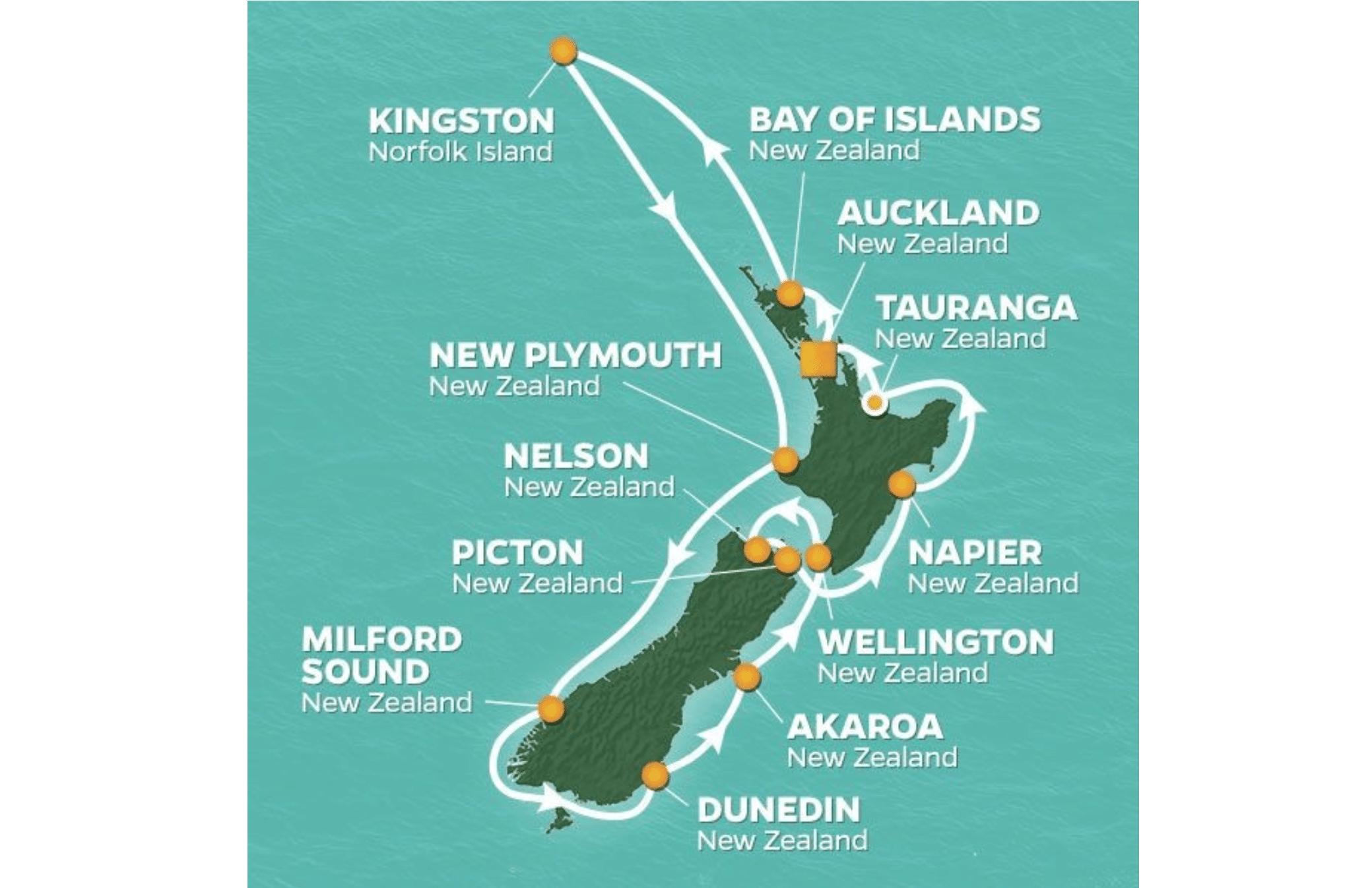 cruising to New Zealand
