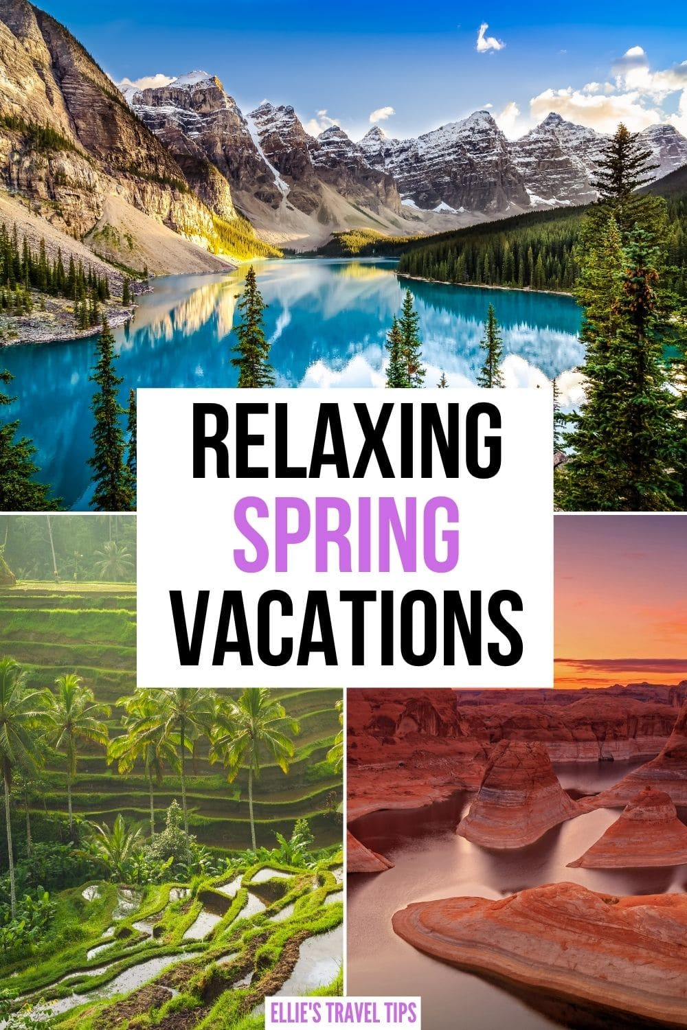 relaxing spring vacations