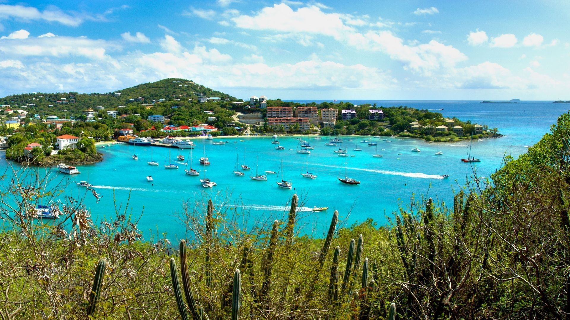 USVI best vacation spots for couples on a beach